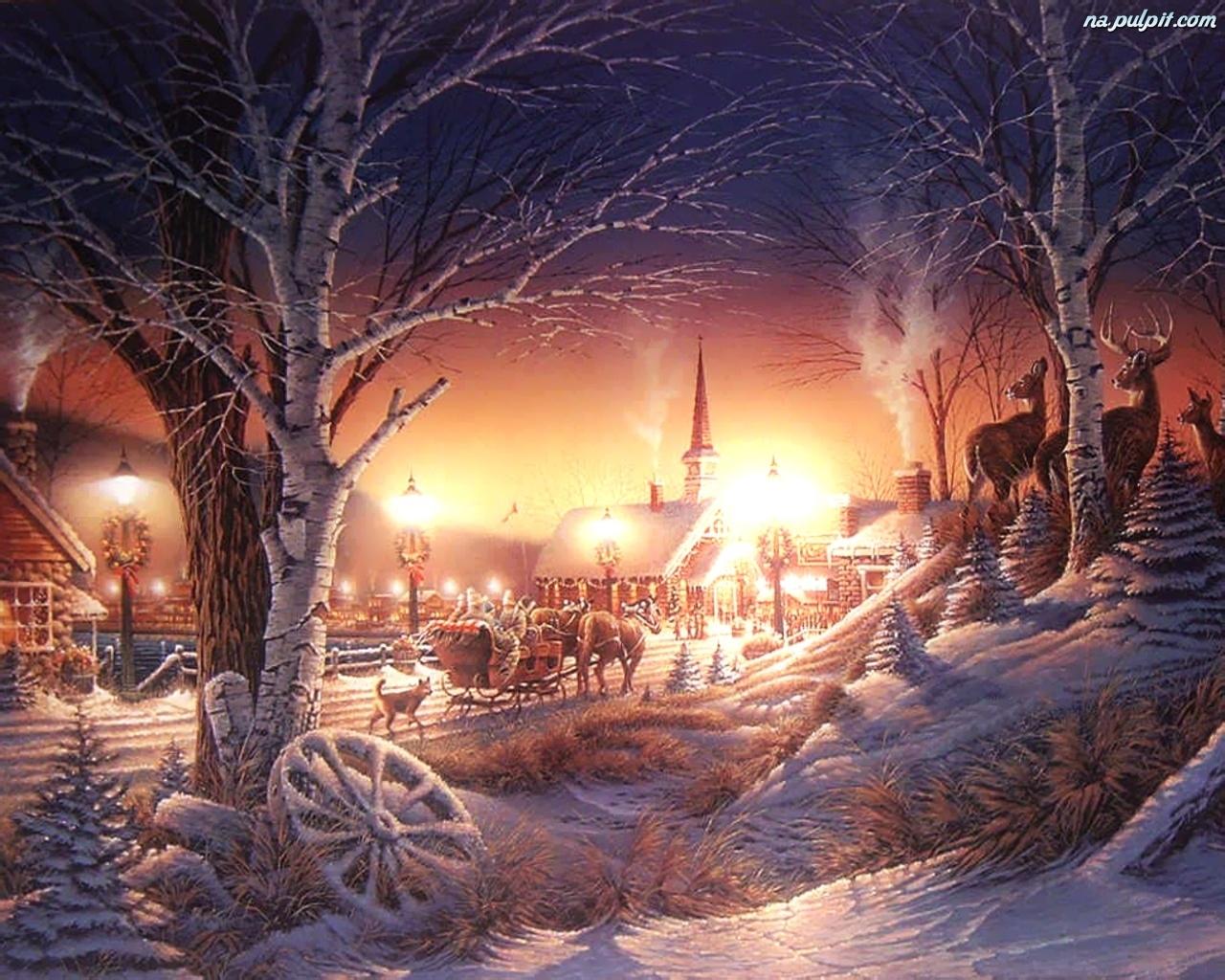 Wi teczny czas na pulpit for Sfondi invernali hd